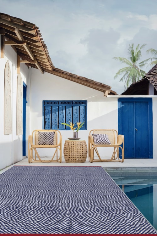 Rugs by Ferreira de Sá seen at Private Residence, Thera - Hand-woven outdoor Adel rug