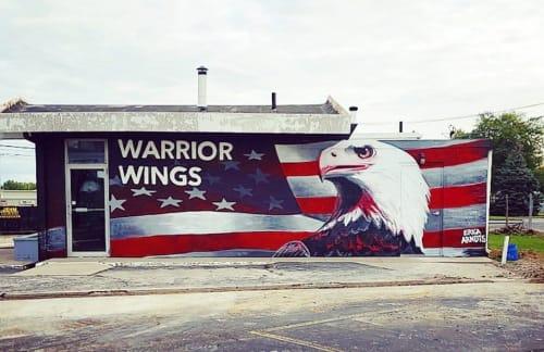 Murals by Erica Arndts seen at 850 N Shoop Ave, Wauseon - Warrior Wings