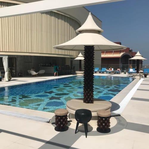 Chairs by Khalid Shafar seen at Andaz Dubai The Palm Residences, Dubai - Little Palm Stools