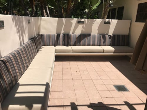 Benches & Ottomans by D.M. Braun & Company seen at University of California Irvine, Irvine - Custom Wall Mounted Seating
