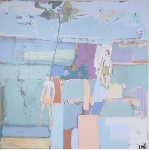 Paintings by EMYO Art seen at Blue Print Gallery, Dallas - Reuni