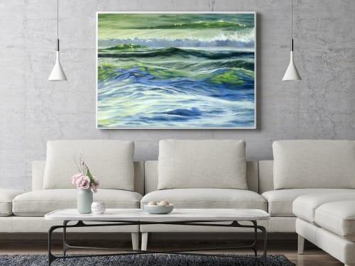 "Paintings by Fran Halpin Art seen at Creator's Studio, Dublin - ""Connected"" Print"