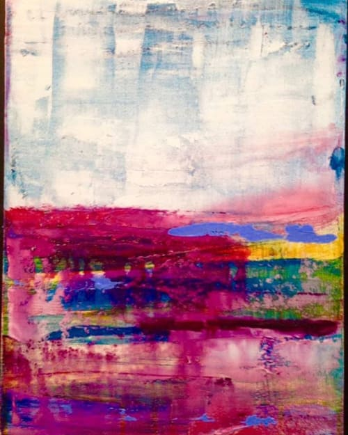 Paintings by Holly Blanton Fine Art seen at Holly Blanton Art, Atlantic Beach - Magenta Waterway