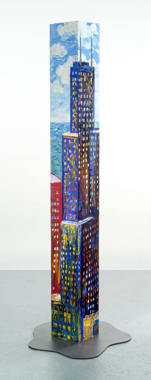 Art & Wall Decor by Sue Averell Fine Art seen at Private Residence, Chicago - Free Standing Urban Tower