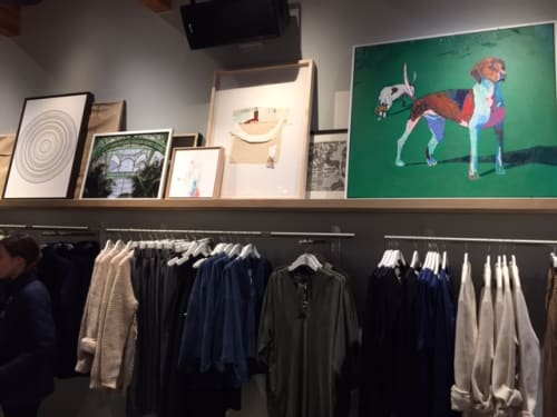 Art & Wall Decor by Sarah Gee Miller seen at Private Residence, Vancouver - Target drawing, Wilfred Clothing