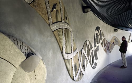 Public Mosaics by Nancy Selvage seen at 4401 Zoo Pkwy, Asheboro - Sonoran Snake