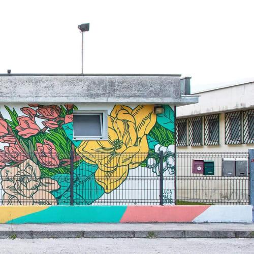 In Bloom   Street Murals by Luca Maleonte
