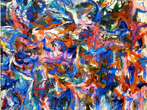 Paintings by Amadea Bailey seen at Private Residence, Santa Monica, CA, Santa Monica - Full Moon