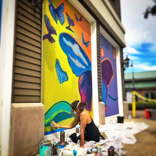 Murals by Ello Artist seen at Perkins Rowe, Baton Rouge - Emerge Butterfly Mural