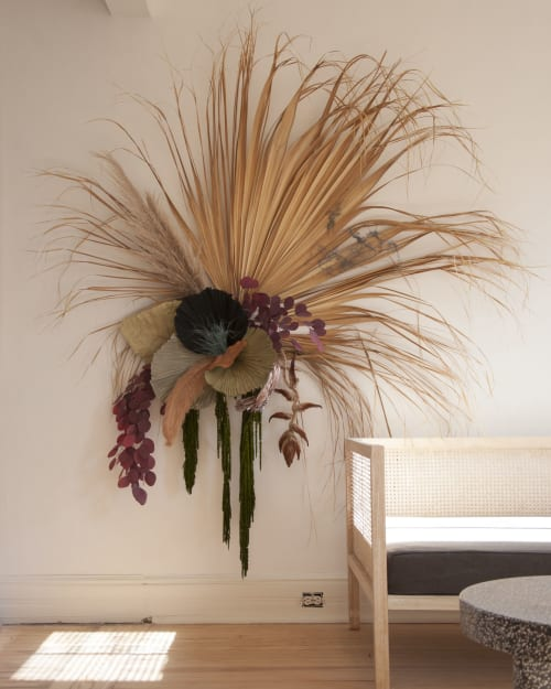 Floral Arrangements by Influorescent seen at Dreamers Welcome, Wilmington - Dried Installation