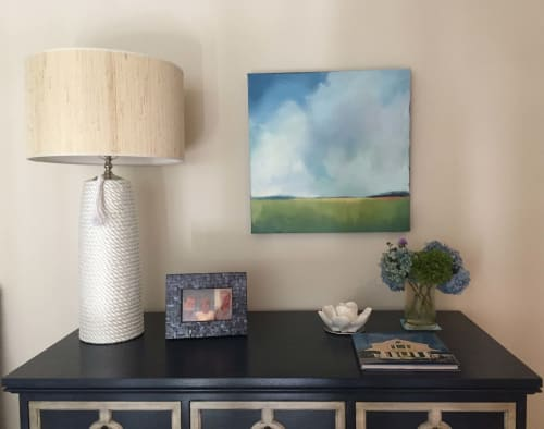 Paintings by Carrie Megan seen at Private Residence, Chatham - Summer Blues Painting