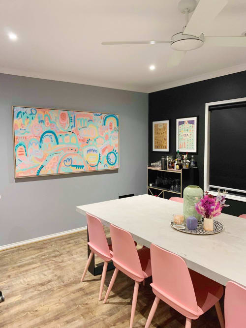 Paintings by Rach Jackson seen at Private Residence, Geelong - This Sweet Life