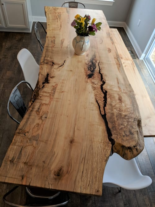 Tables by Urbn Timber seen at Private Residence, Los Angeles - Ambrosia Maple Kitchen Table