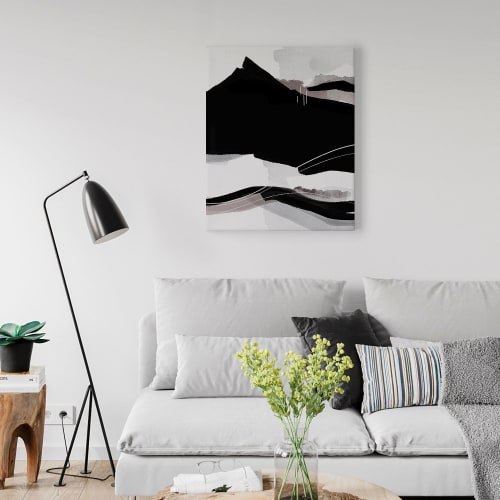 Paintings by Michael Grace & Co seen at Private Residence, Seattle - Cascadia Canvas Art Print