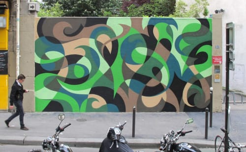 Murals by MATT W. MOORE seen at Private Residence, Paris - MWM Organic.