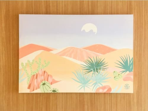 Paintings by Frankie Cihi seen at Private Residence, Kita City - Pink Desert