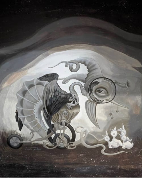 """Murals by Heidi Taillefer seen at Montreal, Montreal - Romeo's Gin mural  """"Dreamcatcher"""""""