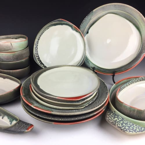 Ceramic Plates by Rat City Studios at Private Residence, Anchorage - CSA Plates