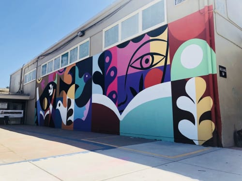 Murals by Rafael López Studio seen at Shore Acres Elementary School, Pittsburg - Shore Acres Elementary School Mural