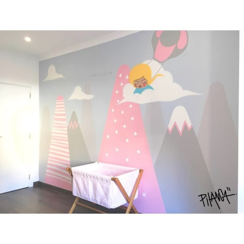 Murals by Pitanga seen at Private Residence - Nursery