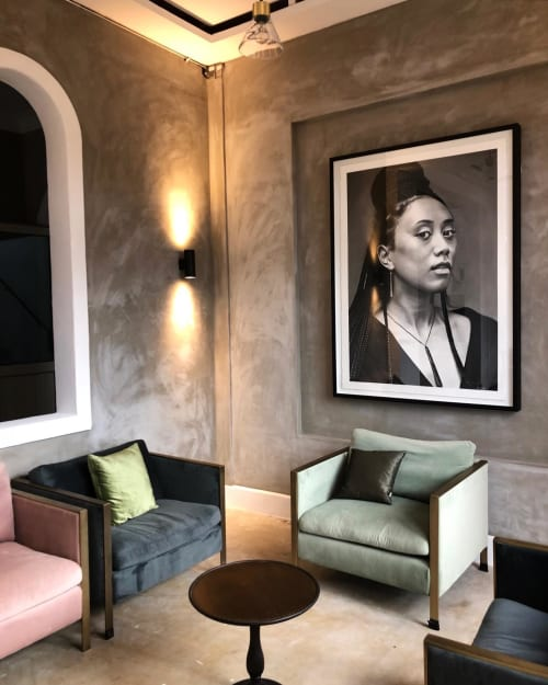 Art & Wall Decor by Matt Griffin seen at Private Residence, Auckland - Wahine Charcoal Drawing