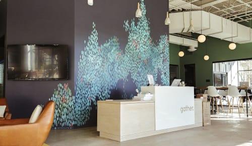 Murals by Emily Herr (HerrSuite) seen at Gather - Short Pump, Glen Allen - Flowing Colors