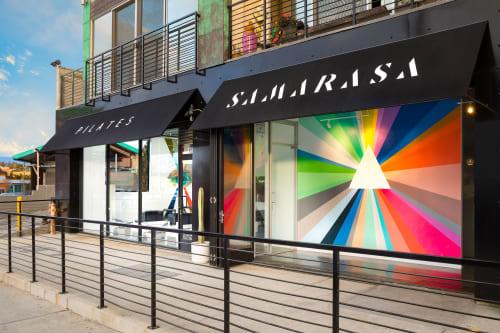 Murals by Andrew Haan (Haanmade) seen at Echo Park, Los Angeles - Samarasa Center