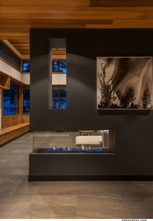 Fireplaces by European Home seen at Private Residence, Truckee - Lucius 140