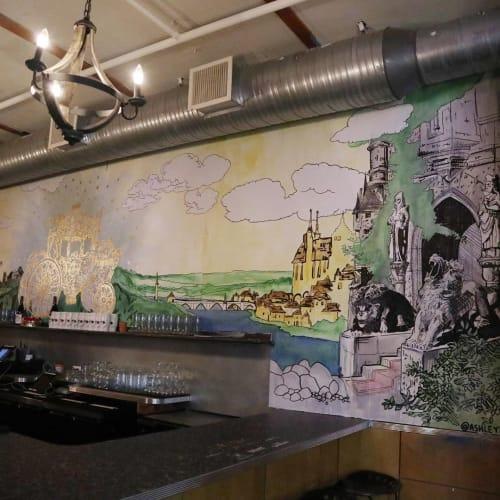 Murals by Ashley Jaye Williams seen at Drink Company, Washington - Indoor Mural