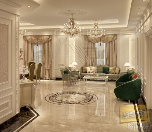 Interior Design by Archeffect Interiors and Finishing seen at Private Residence, Cairo - New Cairo Villa Interior Design