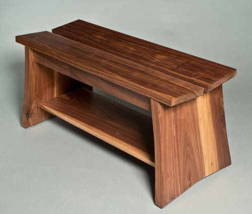 Benches & Ottomans by David Kellum Furniture seen at Private Residence - Port Townsend, WA, Port Townsend - Walnut benches
