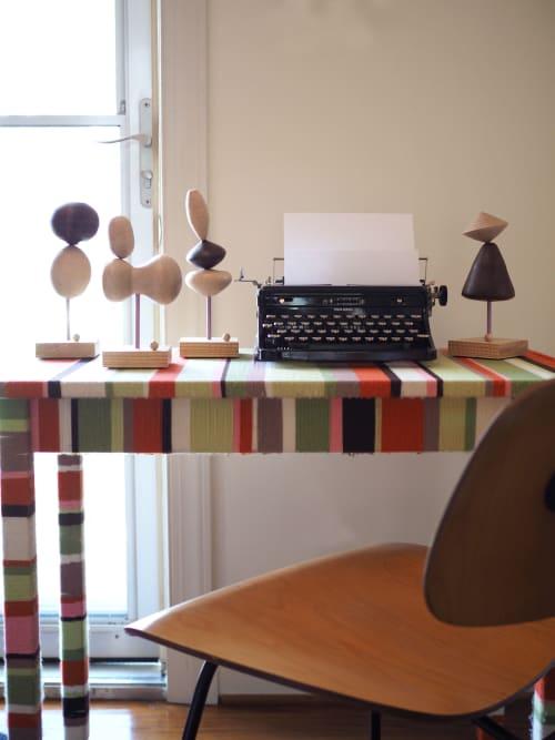 Sculptures by Meg Morrison Design seen at Private Residence, Midlothian - Balance Series