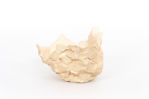Sculptures by Ray G Brown seen at Private Residence, Brooklyn - Crisp Bowl in white stoneware
