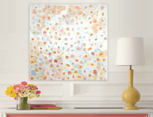 Paintings by Linnea Heide contemporary fine art seen at Asheville, Asheville - 'EVERYBODY POLKA' original abstract painting by Linnea Heide