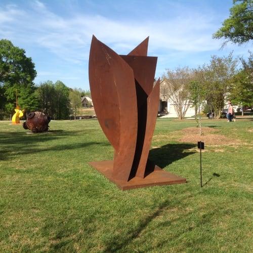 Sculptures by Bob Doster's Backstreet Studio seen at Van Wyck, Van Wyck - Fall Wind