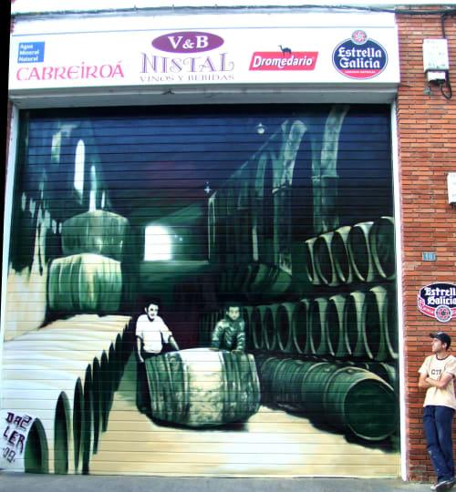 Murals by lerart seen at León, León - nistal with Da2