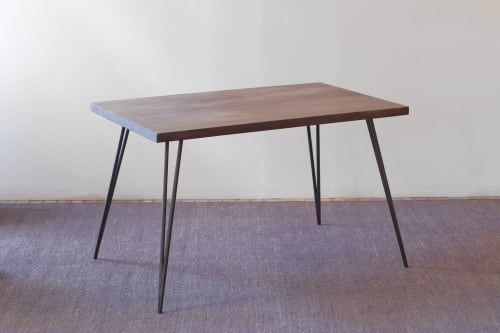 Lurus Straight Edge + Corvus Dining Table | Tables by From the Source