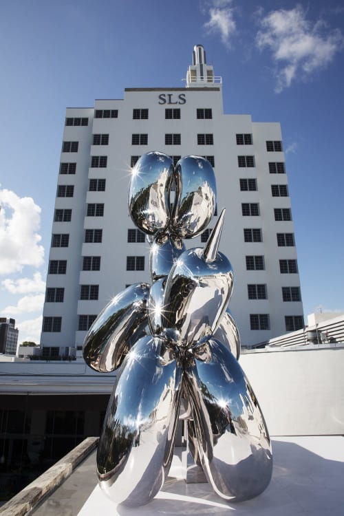Public Sculptures by Michael Benisty seen at SLS South Beach, Miami Beach - Love Dogs sculpture