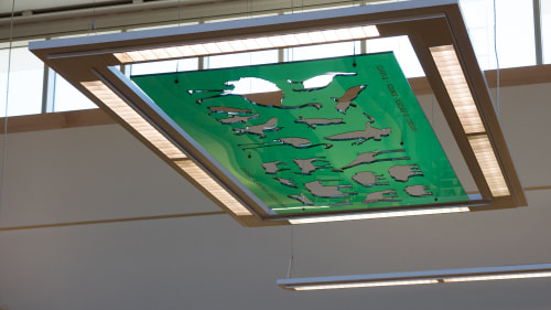 Art & Wall Decor by Patrick McGee seen at Richard M. Daley Branch, Chicago Public Library, Chicago - Spectrum of Knowledge