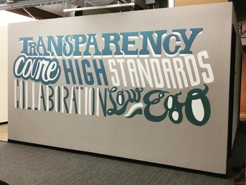 Murals by Emily Fromm - Rancho Art Productions seen at FrontApp Inc., San Francisco - FrontApp Mural