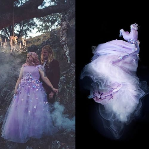 Photography by Meg Cowell - Photo Artist seen at Private Residence, Kempsey - A commission piece for Gelfling goth @princess.petunia.pepplethwait 🔮 Had fun recreating the feels of her elven-tale wedding portrait..using milk and water effects. 🕸