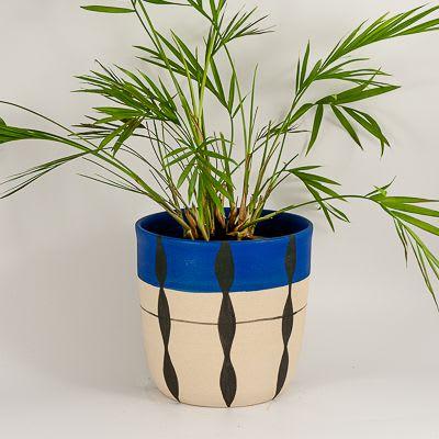 Plants & Flowers by Kyra Mihailovic Ceramics seen at Private Residence, London - Stoneware 'Foliage' plant pot