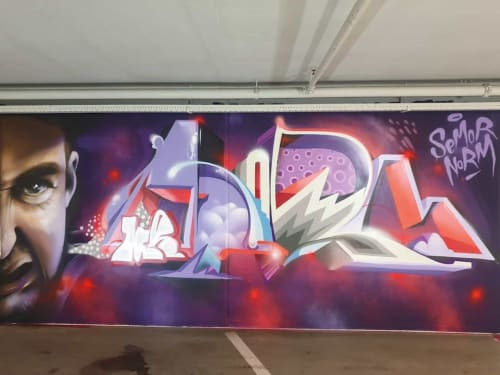 """Street Murals by Semor the mad one seen at Netherlands - """"Dr. Semor and Mr. Norm"""""""