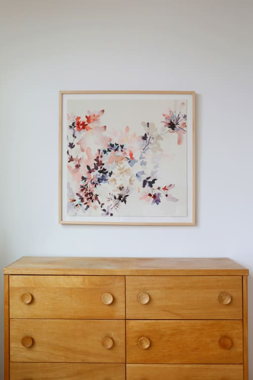 Paintings by Jen Garrido seen at Private Residence, San Francisco - Limited edition reproduction of Wildflower Study M4