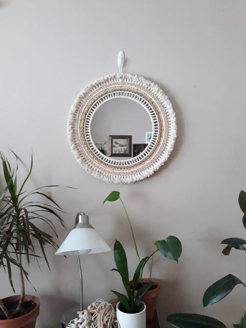 Macrame Wall Hanging by J. Barcellos Macrame seen at Private Residence, Somerville - Jessica Barcellos
