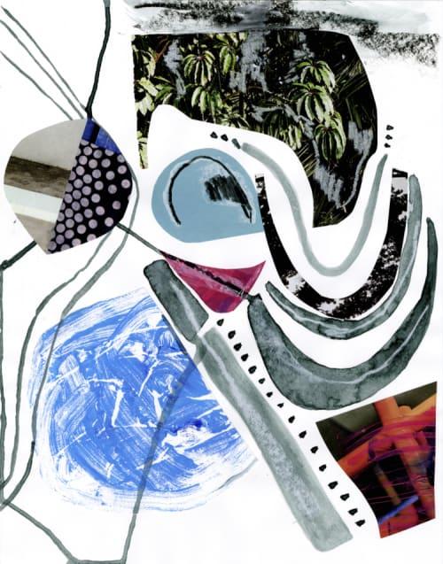 Paintings by K'era Morgan seen at Creator's Studio, Los Angeles - Cenote