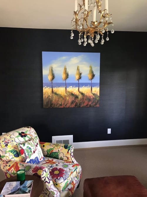 Paintings by Tjasa Owen seen at Private Residence, San Francisco - Trees
