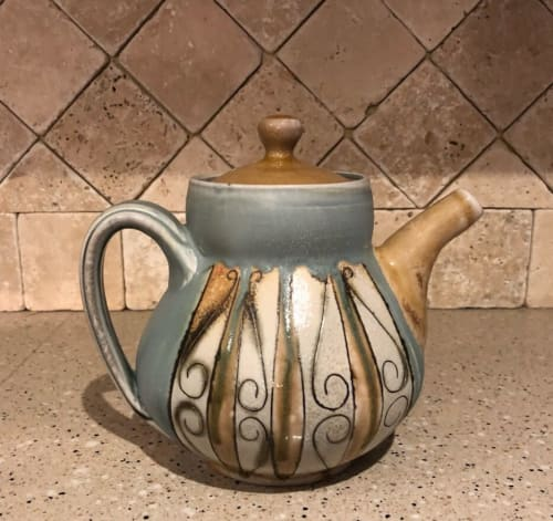 Tableware by Elemental Artworks - handmade pottery by Rena Hamilton seen at Private Residence, Cincinnati - Teapot
