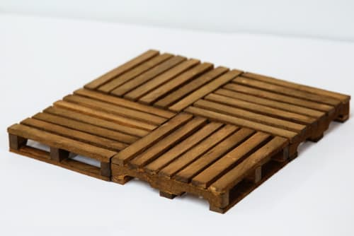 Furniture by Handmades by Honkey seen at Private Residence, Los Angeles - Mini Pallet Coasters