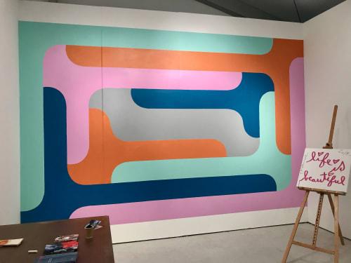 Murals by Mark Creegan seen at Art Miami, Miami - Dopey Formalist CHUBB Mural
